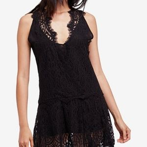 Free People Heart In Two Lace Mini Dress